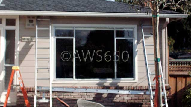 Before photo of Bay window in Belmont,Ca