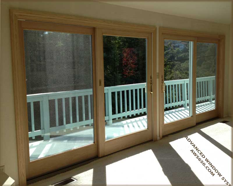 Superior Andersen Oak Interior Frencwood Gliders Installed In Redwood City,Ca.