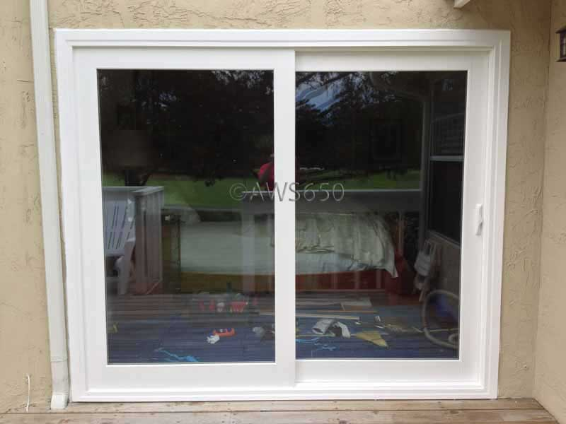 Milgard French Rail Patio Door installed in Half Moon Bay & Before and After replacement window photo gallery Pezcame.Com