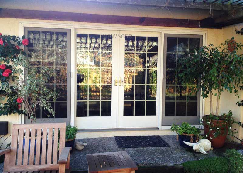 Andersen 4_Panel Frenchwood Gliding Patio Door Installed In Foster City,Ca