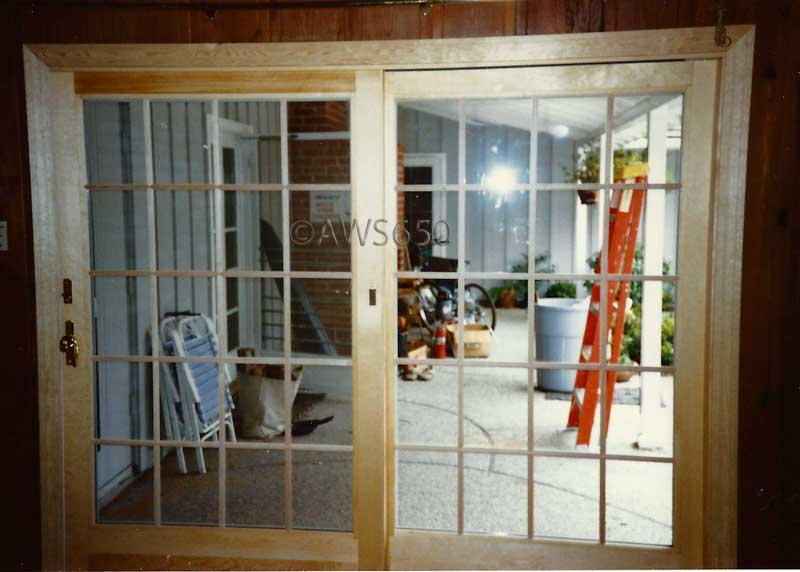 Stain grade French wood door installation inRedwood City